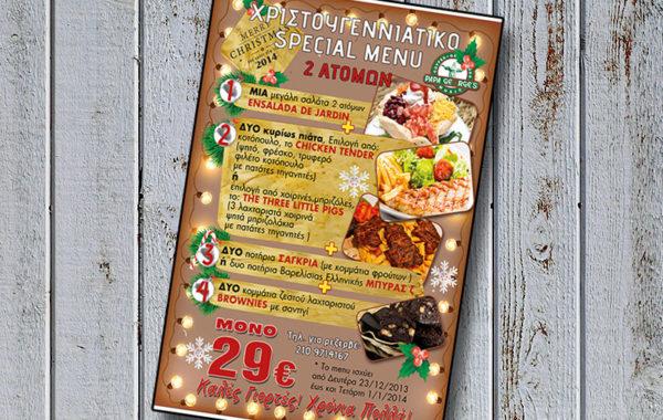 x-mas special menu