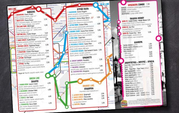 Burger station menu